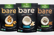 Organic Baked Coconut Chips - Bare Snacks' New Coconut Chips are Available in Exotic Flavor Options