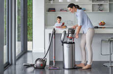 Self-Balancing Canister Vacuums - The Dyson Cinetic Big Ball Vacuum Keeps Moving Past Obstacles