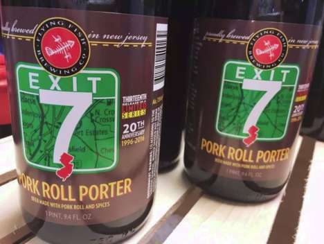 Pork-Infused Brews - The Exit 7 Pork Roll Porter is a Beer Made with Real Pork Roll
