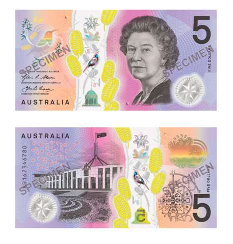 Anti-Counterfeit Banknotes - Australia's $5 Banknote Design Boasts Hidden Security Features