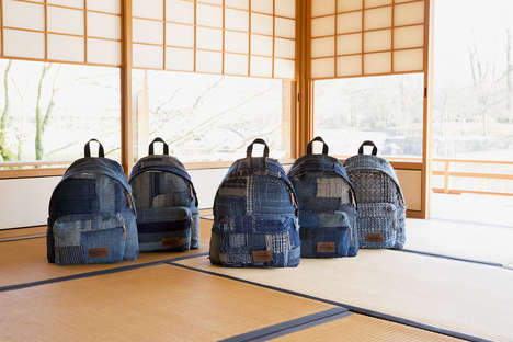 Patchwork Denim Backpacks