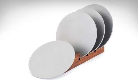 Durable Lightweight Metallic Coasters