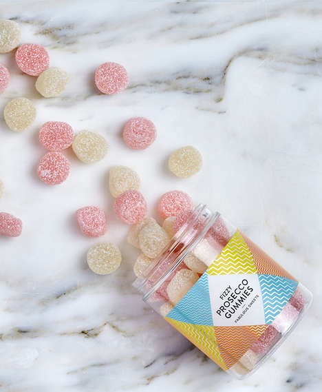 Sparkling Wine Gummies - Sugar Sin Makes Regular and Fizzy Wine Candy Sweets