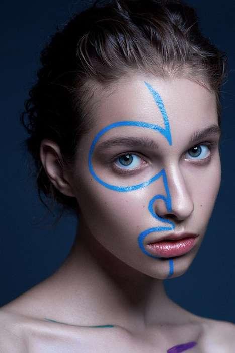 Linear Makeup Portraits