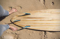 Veneer-Treated Surfboards