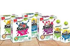 Squeezable Snack Pouches - Sprout Organic SMASH is a New Line of Kid-Friendly Pureed Snacks