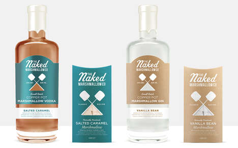 Marshmallow-Infused Spirits - The Naked Marshmallow Co.'s Spirits Feature Sweet Dessert Flavors