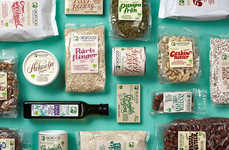 Prepackaged Organic Edibles - The Biofood Health Food Branding is Friendly and Inviting