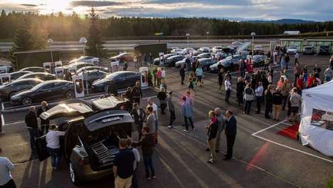 Gigantic Car-Charging Stations - Norway's Electric Vehicle Charging Station is the World's Biggest