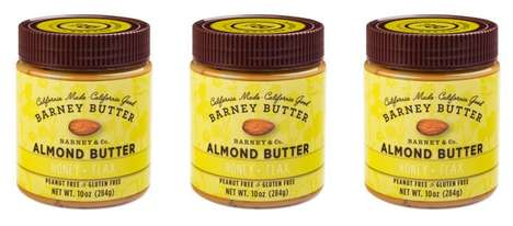 Micronutrient Nut Butters - The Barney Butter Almond Butter is Flavored with Honey and Flax Seeds
