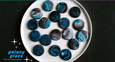 Glazed Galaxy Cookies