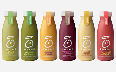 Transparent Smoothie Branding - 'Innocent' Now Sells Its Smoothies in Clear PET Bottles