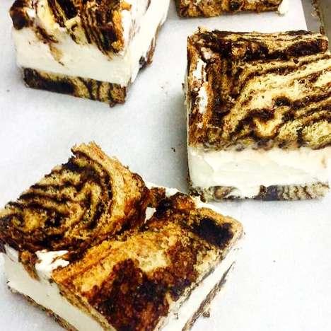 Marbled Ice Cream Sandwiches