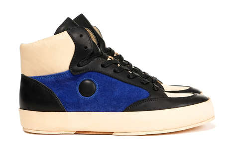 Handmade Luxury Sneakers - RONE Revitalized Its Ninety Model with a Royal Blue and Black Colorway