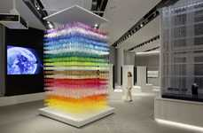 Multi-Colored Paper Installations