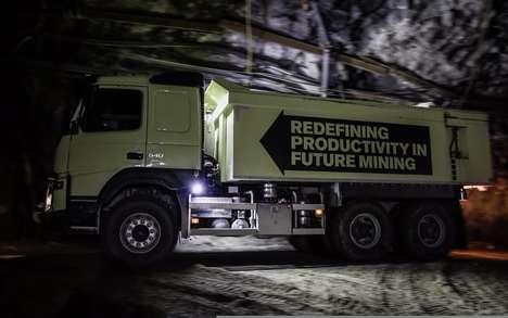 Autonomous Mine-Exploring Trucks