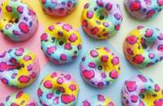Animal Print Donuts - These Lisa Frank Pastry Rings Are Decorated With A Rainbow Cheetah Pattern