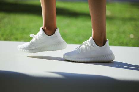 All-White Rapper Sneakers