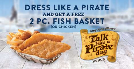 Pirate-Themed Seafood Giveaways
