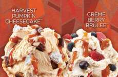 Creamy Pumpkin Ice Creams - Cold Stone Creamery's Fall Menu Combines Pumpkin Flavors with Cheesecake