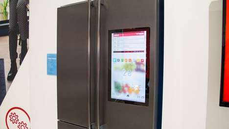Food-Monitoring Refrigerators - The Sharp '4LifeHub' Smart Refrigerator Features Interior Cameras