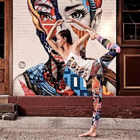 Graffiti-Inspired Active Apparel - This Collection of Clothing for Yoga Celebrates Street Art