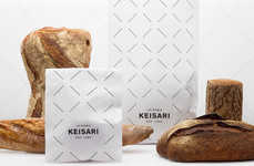 Monochromatic Baked Goods Branding - Keisari Bakery Bags and Branding is Focused on Simplicity