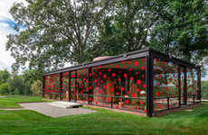 Dotted Glass Houses - 'The Glass House' Was Designed by the Renowned Artist Yayoi Kusama