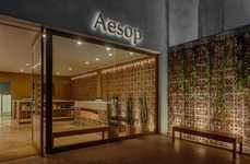 Homely Beauty Boutiques - The Aesop Skincare Counter in São Paulo is Designed Like a House