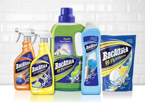 Concise Cleaning Product Branding