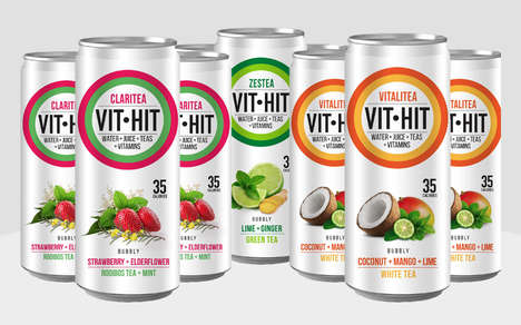 Fruity Sparkling Tea Blends - Vit-Hit Bubbly Serves as a Healthy and Refreshing Alternative to Soda
