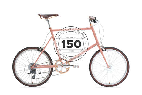 Gilded Feminine Bicycles - The Brooks England x Tokyobike Honors the Company's 150th Anniversary
