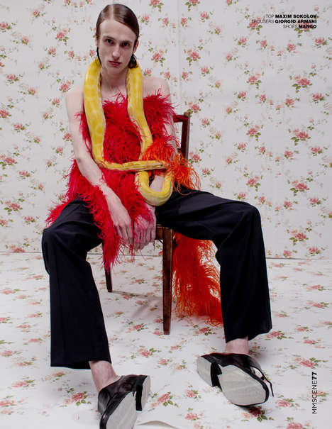Snake-Accessorized Editorials - Smagina Margarita Lensed the 'Strange Fruit' Editorial for MMScene