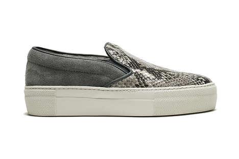 Slip-On Snakeskin Sneakers