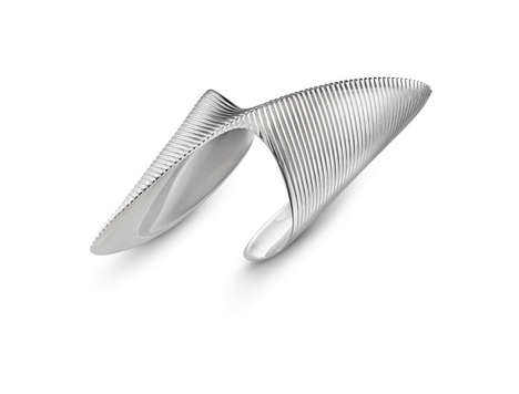 Futuristic Curvaceous Jewelry - Georg Jensen and Zaha Hadid Designed the 'Lamellae' Collection