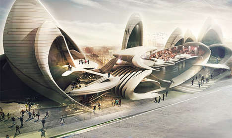 Insectival Building Designs - The Elytra Design Won the Moscow Circus School Competition