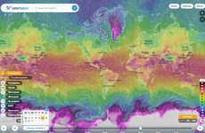 Real-Time Weather Visualizations - 'Ventusky' Gives a Beautiful Interpretation of Global Weather