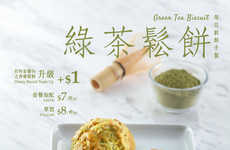 Matcha Breakfast Buns - KFC is Now Selling Green Tea Biscuits in Hong Kong