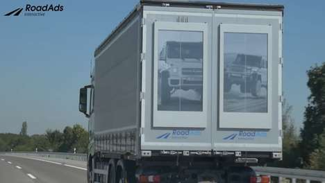 Geo-Targeted Truck Billboards - The RoadAd Boards Change Content Depending On Trucks' Location