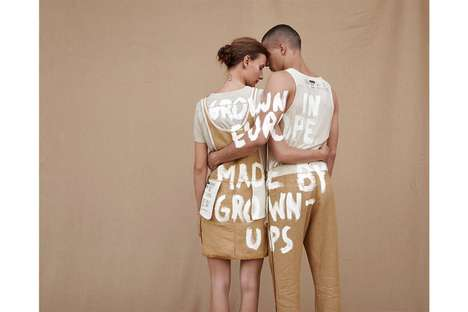 Flax Hemp Apparel - FREITAG's Fashion Line Includes 100% Biodegradable Clothing in Unisex Styles