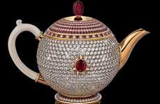 Diamond-Encrusted Teapots