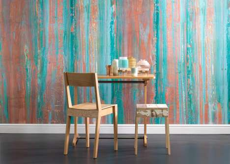 Oxidized Copper Wallpapers - Piet Hein Eek Designs are Being Manufactured by NLXL Labs