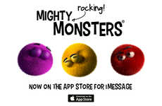 Monstrous Messenger Stickers - 'Mighty Rocking Monsters' Introduce Expressive iMessage Stickers