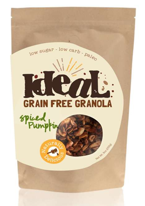 Seasonal Grain-Free Granolas - Ideal's Grain-Free Granola is Made with Nuts, Seeds, Honey and Spices