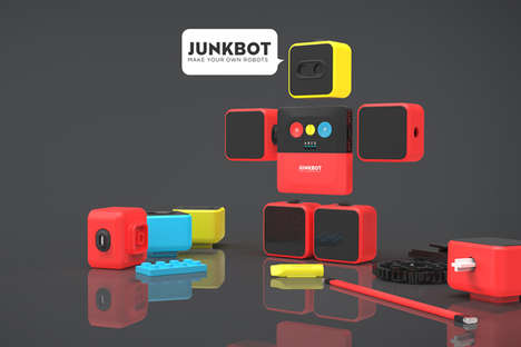 The 'Junkbot' DIY Robot Kit Turns Household Objects into Robotics