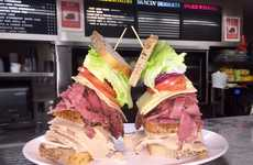 Meaty Fashion Week Sandwiches - Carnegie Deli is Serving Up a Fashion Sandwich for NYFW Models
