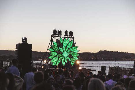 Illuminated Music Festival Flowers