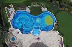 Eagle Eye Artwork Pools - This Swimming Pool Design is Inspired by 'The Starry Night' by Van Gogh