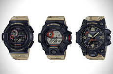 Camouflaging Military Timepieces - The G-Shock Master Keeps Up With Rugged Outdoor Use