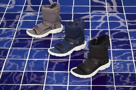 Furry Futuristic Sandals